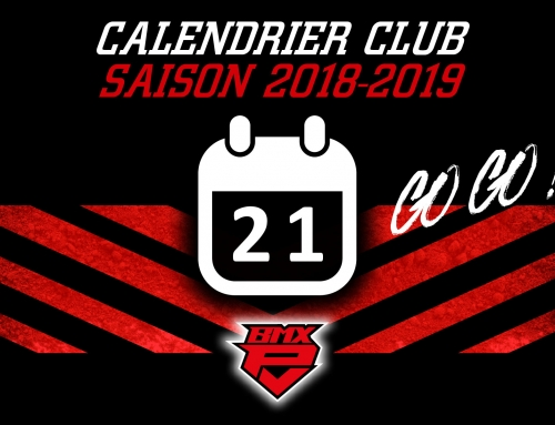 CALENDRIER CLUB – SAISON 2018-2019