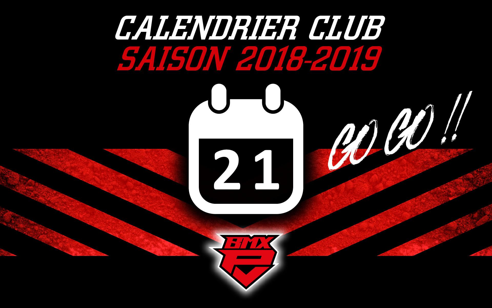 Calendrier Bmx 2019.Calendrier Club Saison 2018 2019 Bmx Puget Ville